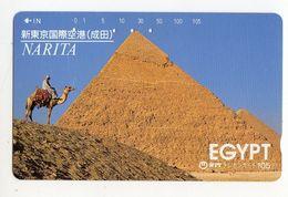 EGYPTE TELECARTE JAPON PYRAMIDE - Egypte