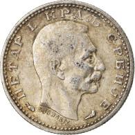 Monnaie, Serbie, Peter I, 50 Para, 1915, Gorham Mfg. Co., Variété, TTB - Serbie