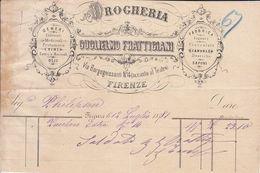 ** GUGLIELMO FRATTIGIANI.- (FI).- DROGHERIA.- 1881.-** - Italia
