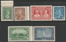 Canada Sc 211-216 Complete Set MNH - Ungebraucht