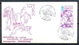 Enveloppe Aérospatiale Rencontres De L'Amitié 1979 Marignane - Timbres SPORT POUR TOUS YT 2020 - (1) - Francia