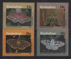 Zimbabwe - N°118 à 121 - Faune - Papillons - Cote 10€ - * Neufs Avec Trace De Charniere - Zimbabwe (1980-...)