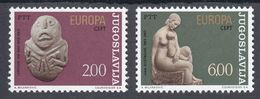 Yugoslavia 1974 Europa CEPT Sculptures Lepenski Vir Ivan Mestrovic Art MNH - Europa-CEPT