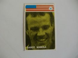 Motorcyclist Motocycliste Motociclista Randy Mamola Portugal Portuguese Pocket Calendar 1986 - Calendriers