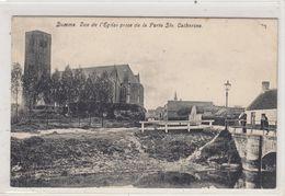 Damme. Vue De L'Eglise Prise De La Porte Ste Catherine. - Damme