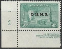 Canada Sc O11 Official MNH LL Plate Corner Single - Officials