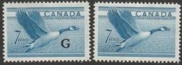 Canada Sc O31 Official MH & 320 MH - Officials