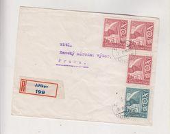 CZECHOSLOVAKIA JIRIKOV 1948 Nice  Registered Cover - Covers & Documents