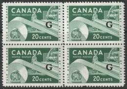 Canada Sc O45 Official Block Of 4 MNH - Officials