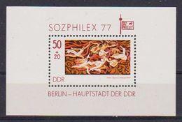 GERMANIA DEMOCRATICA DDR FOGLIETTI 1977 ESPOSIZIONE FILATELICA SOZPHILEX UNIF. BF.48 MNH XF - [6] Democratic Republic