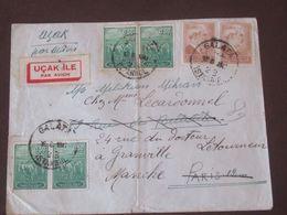 Libye Lettre Recommandée Du 12 08 1947de  Galata  Pour Granville - Brieven En Documenten