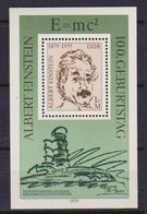 GERMANIA DEMOCRATICA DDR FOGLIETTI 1979 ALBERT EINSTEIN UNIF. BF 54 MNH XF - [6] Democratic Republic