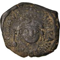 Monnaie, Maurice Tibère, Demi-Follis, 588-589, Thessalonique, TB+, Cuivre - Byzantines