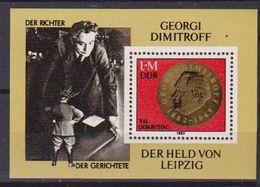 GERMANIA DEMOCRATICA DDR FOGLIETTI 1982 GEORGI M.DIMITROW UNIF. BF 68 MNH XF - [6] Democratic Republic