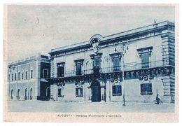 B3717 - Siracusa, Augusta, Palazzo Municipale E Ginnasio, Non Viaggiata - Siracusa