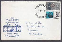 GB 1965 Lister Royal Infirmary Of Edinburgh FDC Edinburgh FDI - 1952-1971 Pre-Decimal Issues
