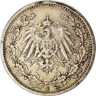 Monnaie, GERMANY - EMPIRE, 1/2 Mark, 1906, Stuttgart, TTB, Argent, KM:17 - [ 2] 1871-1918 : Imperio Alemán