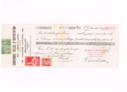 Lettre De Change.Compagnie Belge D'importation Chine Et Japon.à Peret-Delhaye,Marche. - Chèques & Chèques De Voyage
