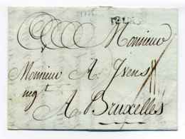 TOURS / Dept 36 Indre Et Loire / 1775 / A Destination De La Belgique Bruxelle - 1701-1800: Voorlopers XVIII