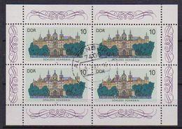 GERMANIA DEMOCRATICA DDR MINIFOGLI 1986 CASTELLI UNIF. 3032 USATO VF(MINIFOGLIO DA 4) - [6] Democratic Republic
