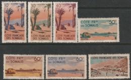 French Somali Coast Sc 248-254 Partial Set MH - French Somali Coast (1894-1967)