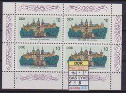 GERMANIA DEMOCRATICA DDR MINIFOGLI 1986 CASTELLI UNIF. 3032  MNH XF (MINIFOGLIO DA 4) - [6] Democratic Republic