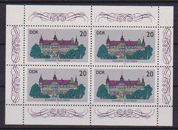 GERMANIA DEMOCRATICA DDR MINIFOGLI 1986 CASTELLI UNIF. 3033  MNH XF (MINIFOGLIO DA 4) - [6] Democratic Republic
