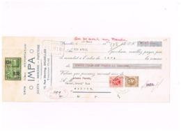 """Mandat.""""IMPA"""",Jouets,Mercerie,Papeterie,Bruxelles à Peret,Bazar,Marche. - Chèques & Chèques De Voyage"""