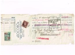 """Mandat.""""SOCOBO"""",Commerce Du Bois,Bruxelles à Peret,Marche. - Chèques & Chèques De Voyage"""
