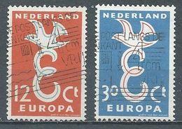 Pays-Bas YT N°691/692 Europa 1958 Oblitéré ° - Europa-CEPT
