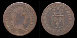 France Louis XV Liard 1773W - 476-1789 Monnaies Seigneuriales