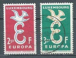 Luxembourg YT N°548-549 Europa 1958 Oblitéré ° - Europa-CEPT