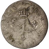 Monnaie, France, Louis XV, Double Sol (2 Sous) En Billon, 2 Sols, 1739, Troyes - 1715-1774 Louis XV Le Bien-Aimé