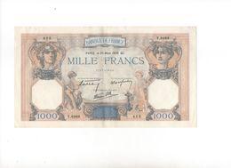 Banconota Da 1000 Franchi Francesi Del 30/03/1939 - 1871-1952 Anciens Francs Circulés Au XXème