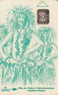 FRENCH POLYNESIA - Vahine Verte 60 Unites, No Impact, CN : 40224, Tirage %90000, 01/92, Used - Polynésie Française
