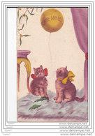 Cpa  Réf-JP-T817 (  CHATS )   BONNE ANNEE - Cats