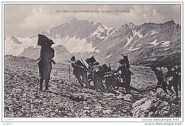 Cpa   Réf-JP-Q-652  (    La Grande Guerre De 1914-18 )   Manoeuvres D'Artillerie Dans Les Alpes En Batterie - War 1914-18