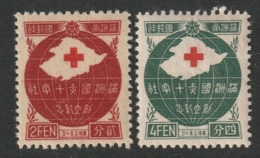 Manchukuo Sc 128-129 Set MH - 1932-45 Manchuria (Manchukuo)