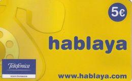 SPAIN - Hablaya, Telefonica Prepaid Card 5 Euro, Used - Telefonica