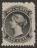 Nova Scotia Sc 8 MH Possibly Regummed - Unused Stamps