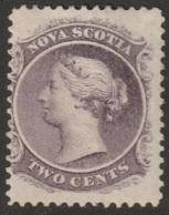Nova Scotia Sc 9 MH With DG - Unused Stamps