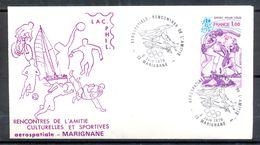 Enveloppe Aérospatiale Rencontres De L'Amitié 1979 Marignane - Timbres SPORT POUR TOUS YT 2020 - (2) - Francia