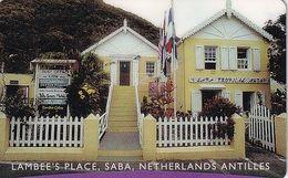 "SABA(NETHERLAND ANTILLES) - Lambee""s Place, Antelecom Prepaid Card $10, Exp.date 01/00, Used - Antilles (Neérlandaises)"
