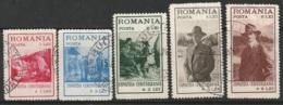 Romania Sc B26-B30 Set Used - 1918-1948 Ferdinand, Charles II & Michael