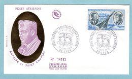 FDC France 1970 - Antoine De Saint Exupéry - YT PA 44 - 69 Lyon - 1970-1979