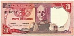 Angola - 20 Escudos - 24.11.1972 - Pick 99 - Série BV - Marechal Carmona - PORTUGAL - Angola