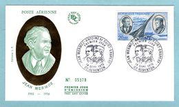 FDC France 1970 - Jean Mermoz  - YT PA 44 - 02 Aubenton - 1970-1979