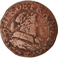 Monnaie, France, Louis XIII, Double Tournois, 1633, Tours, TB+, Cuivre - 987-1789 Royal