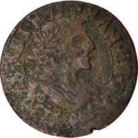 Monnaie, France, Louis XIII, Double Tournois, 1639, Vallée Du Rhône, TB - 987-1789 Royal