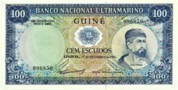 Guiné-Bissau - 100 Escudos - 17.12.1971 - P 45 - Unc. - Sign Varieties - Nuno Tristão - PORTUGAL - Guinea-Bissau